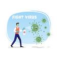 fight corona virus vector image vector image