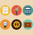Financial examiner icon Economic statistic icon vector image