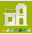 Flat design arabic house vector image