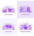 flat line purple designed concepts 6 vector image vector image