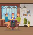 friends drinking beers in pub meeting in bar vector image