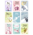 Funny Cats Cards Set vector image