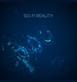 futuristic sci-fi blue background hud element vector image