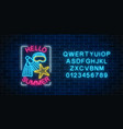 glowing neon sign of summer begin party with sea vector image vector image
