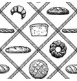 hand drawn bakery products vector image vector image