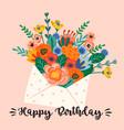 happy birthday cute vector image vector image