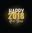 happy new year golden glitter greeting card vector image
