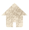 House architecture icon vector image