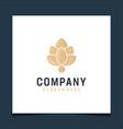 inspirational leaf logo design in modern color vector image