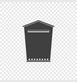 mailbox icon on a transparent vector image