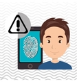 man smartphone password vector image