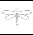 minimalist elegant dragonfly vector image vector image