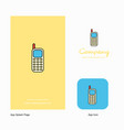 mobile phone company logo app icon and splash vector image vector image