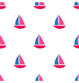 pattern with ships vector image