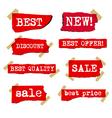 promotion sale labels vector image vector image