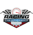 Racing Championship icon vector image vector image