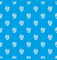 rapan pattern seamless blue vector image vector image