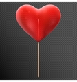 red heart shaped candy lollipop eps 10 vector image
