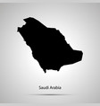 saudi arabia country map simple black silhouette vector image
