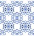 Seamless Blue Floral Mandala Pattern vector image vector image
