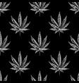 seamless pattern with hemp sketch vintage vector image