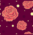 seamless pattern with orange roses vector image