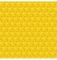 seamless pattern yellow glossy honeycombs vector image