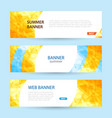 set horizontal summer web banner templates bright vector image