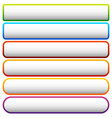set of colorful button banner backgrounds with vector image vector image