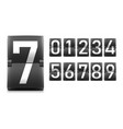set of numbers digits in mechanical scoreboard vector image