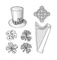 set saint patricks day hand drawn design vector image