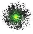 sharp particles randomly fly in the air vector image vector image