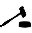 silhouette of gavel vector image vector image