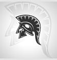 spartan silhouette symbol image vector image