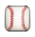 Square icon for baseball app or games vector image vector image