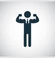 strong man icon simple flat element design concept vector image vector image