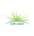 sun and sea travel logo template vector image