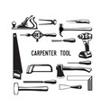 tool carpenter vector image vector image