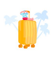 travel on tropical country resort tiny male vector image vector image