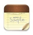 User interface notepad icon Eps10 image