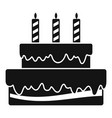 vanilla cake icon simple style vector image vector image