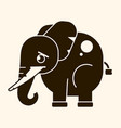 vintage elephant with tusks logo for interior vector image vector image