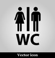 WC flat icon on grey background vector image vector image