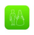wedding icon green vector image