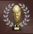 worlds famous award or prize for victory vector image vector image