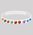 wristband design with different planets vector image