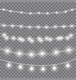 christmas white lights vector image