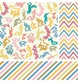 Colorful zigzag seamless set vector image