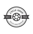 Bike badge outline vector image