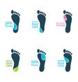 water feet vector image